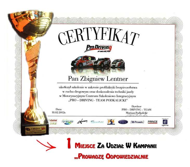 Certyfikaty ZIBI-TRANS